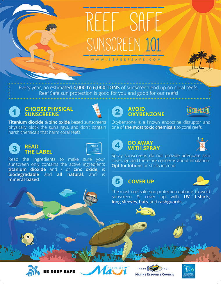 The 5 Steps Be Reef Safe Approach Infographic